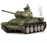 RC TANK T-34/85 1:16, BBS, kouř. a zvuk. efekty, armádní zelená