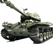 RC TANK U.S. M41A3 (Walking Bulldog) 1:16, BBS, 2,4 GHz, kouřové a zvukové efekty, armádní zelená