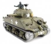 RC TANK US M4A3 SHERMAN 1:16, BBS, zvuk. a kouř. efekty, armádní zelená