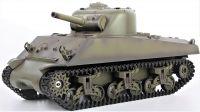 RC TANK US M4A3 SHERMAN 1:16 s BBS, zvuk. a kouř. efekty, armádní zelená
