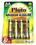 Alkalické baterie Pluto 1,5V AA (4ks)