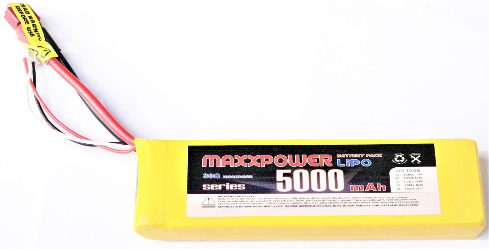 Baterie Li-Po 7.4V 5000mAh s T konektorem