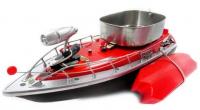 Zakrmovací zavážecí rybářská loď 43cm s nosností až 1000g, červená