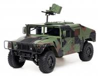 HUMMER H1 americké vojenské vozidlo se zvukovým a světelným systémem 1:10 4x4 2.4GHz 16CH servo 9kg