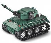 Stavebnice RC Tanku na dálkové ovládání 2,4 GHz, celkem 313 dílů v balení