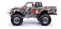 Truck Pick Up Crawler 4x4, 3 rychlostní nastavitelná převodovka, kovový rám s odpružením
