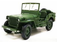 Jeep Willys WTP taktický a legendární model auta 1:18  v kovovém provedení ve stylu US Army WWG1WGA
