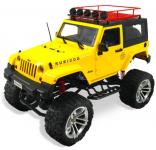 JEEP WRANGLER RUBICON s pevnou střechou 48cm 4x4 s dvoustupňovou převodovkou, žlutý