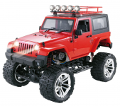 JEEP WRANGLER RUBICON s pevnou střechou 48cm 4x4 s dvoustupňovou převodovkou, červený