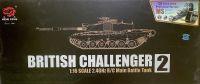 RC TANK British Challenger 2 1:16, BBS, zvuk. a kouř. efekty, ocelové doplňky, pouštní žlutá HENG LONG